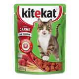 Alimento Úmido Kitekat Carne Ao Molho Ração De Gato