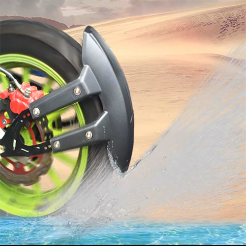 Lodera Universal Trasera Para Moto Salpicadera Con Soporte