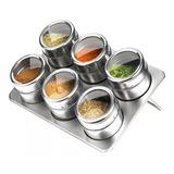 Especieros Frascos Condimentos Cocina Magnéticos Metal
