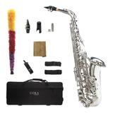 Saxofón Alto Plateado Cora By L. America + Accesorios