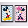 Ki 2 Quadros Mickey Minnie Disney Decoracao Quarto Iantil Original