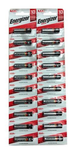 Aaa Pilas Energizer Max Tira Por 20  E92 Bp20