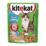 Alimento Úmido Kitekat Peixe Ao Molho, 70g Ração Para Gatos