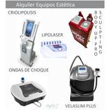 Alquiler Velaslim P, Body Up, Lipolaser, Crio Y Ondas Choque