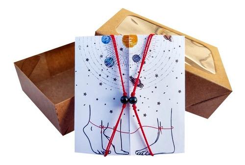 Conjunto 2 Pulseiras Akai Ito Pedra Magnética + Caixinha