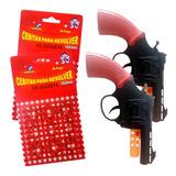 Revolver Cebitas Combo X2 Pistolas De 8 Disparos + 144 Tiros