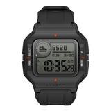 Smartwatch Amazfit Sport Neo 1.2  Caja De  Plástico  Black Malla  Black De  Pur A2001