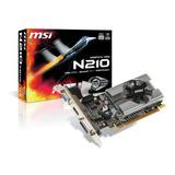 Placa De Video Nvidia Msi  Geforce 200 Series 210 N210-md1g/d3 1gb