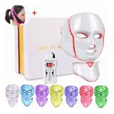 Máscara De Terapia Facial Cuello Con Luz Led De 7 Colores