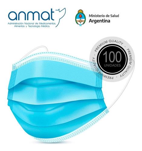 Barbijo Tricap Elástico Clip X100u Termosellado Certificado