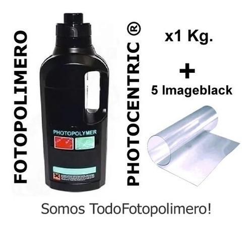 Iquido Fotopolimero Polímero Resina 1 Kg Fabricar Sellos