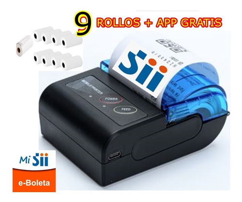 Mini Impresora Bluetooth 58 Mm App Gratis Incluy Rollo Papel