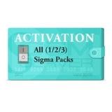 Activación Packs 1, 2, 3 Sigma Box /sigma Key