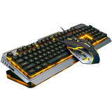 Teclado Mecánico Retroiluminado V1 Cableado Usb + Mouse