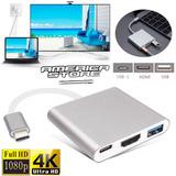 Adaptador Macbook 12 Usb-c A Hdmi Usb 3.0 Usb C 3 En 1 Plate