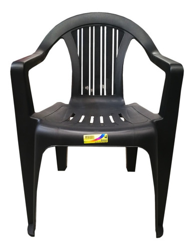 10 Sillones Plasticos Reforzados Antideslizantes Savoy Negro