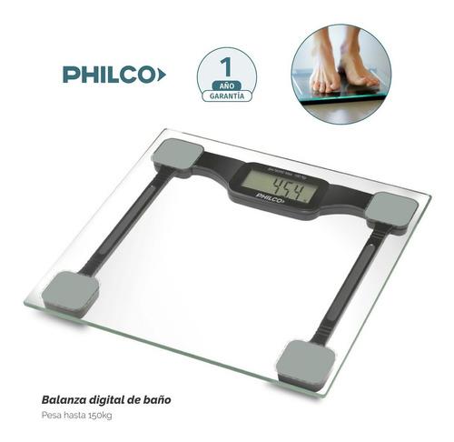 Balanza Digital Philco Vidrio Templado 150kg Supera Atma