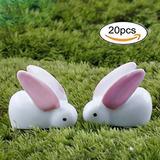 Rebaño De Conejos En Miniatura De 20 Piezas De Jardin De C
