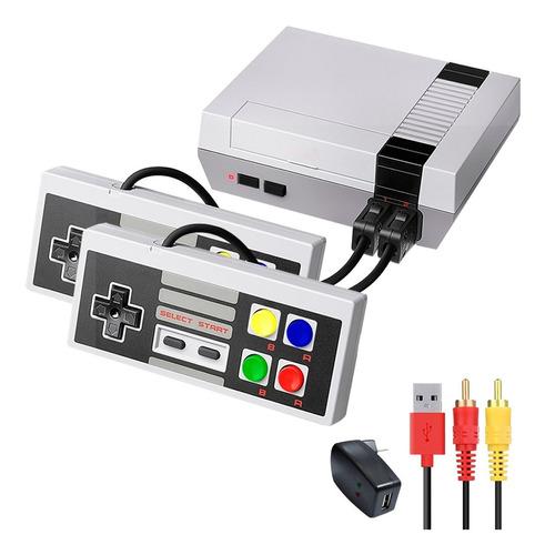 Mini Consola Video Juegos Retro Usb + Juegos + 2 Controles