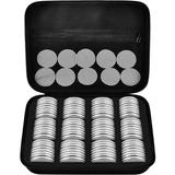 Estuche Con 96 Capsulas Tamaño Ajustable Para Monedas 46mm