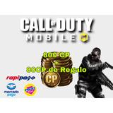 Call Of Duty Mobile 800cp + 80cp De Regalo