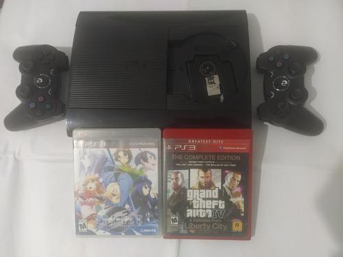 Playstation 3 Consola 250 Gb Ps3 Slim Joysticks Juegos Usada
