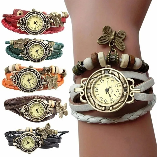 Reloj Con Dijes Diseño De Moda Colores Surtidos Mujer Dama