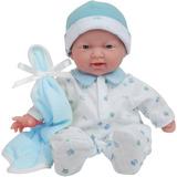La Baby De Jc Toys Muñeca Bebe Suave Y Lavable 28cm Azul