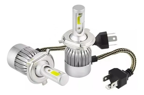 Kit Cree Led H4 H7 Hb4 9006 2 Led Auto Lampara