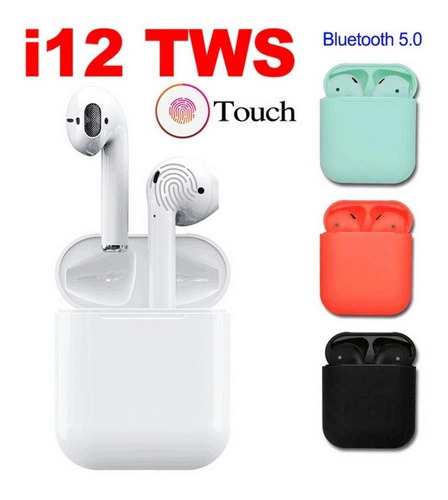 Auriculares Inalambricos I12 Tws Bluetooth Control Táctil