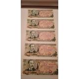 Billetes 5 Colones Nuevos Sin Circular Serie Consecutivarema