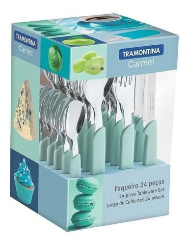 Cubiertos Carmel Tramontina Juego 24 Pzas Cocina Set Colores