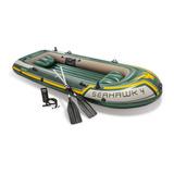 Bote Gomón Intex 68351 Seahawk 4 Personas + Remos + Inflador