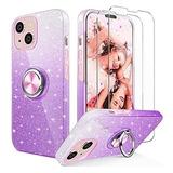 Funda Kswous P/iPhone 13 2021/6.1inch/shockproof/purple
