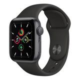 Apple Watch Se (gps, 40mm) - Caixa De Alumínio Cinza-espacial - Pulseira Esportiva Preto