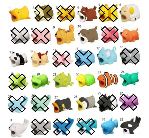 Protector Cable Bite Para iPhone Android Animales Mordedores