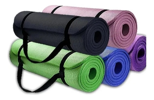 Mat 10 Mm Yoga Pilates Extra Grueso, Largo
