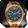 Relógio Technos Masculino Dourado Classic  Barato Original
