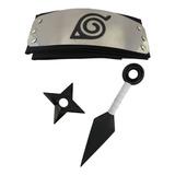 Kit Naruto - Kunai 23,5cm + Shuriken 9cm + Bandana