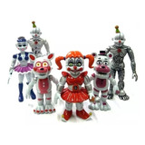 Five Nights At Freddy's Sister Location Set X 6 Personajes!