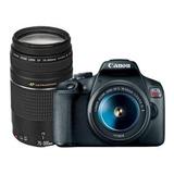 Canon Eos Rebel T7 18-55mm Is Ii + 75-300mm Iii Kit Dslr Color  Negro