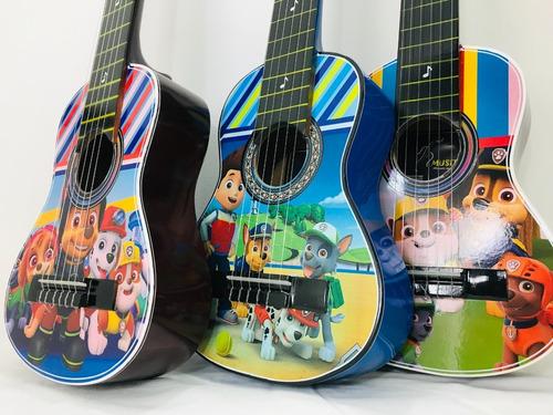 Guitarras Niños De 1 A 4 Años  Forro -nuevos Diseños+ Correa