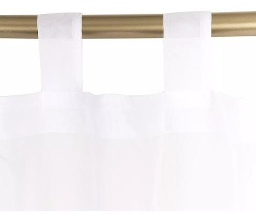 Cortina Velo Liso Con Presilla 140x220 Cm 2 Paño - Blanco