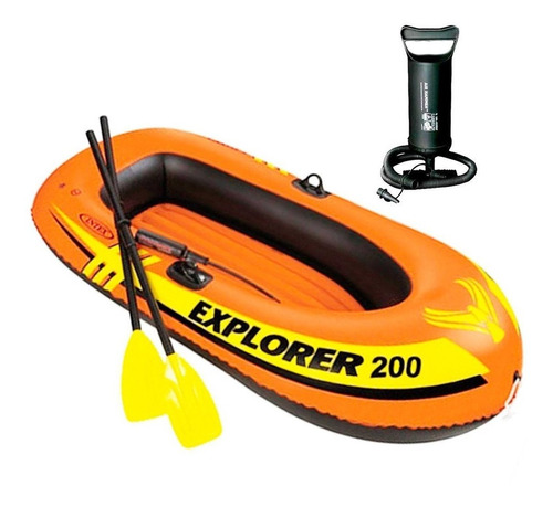 Intex Bote P/ 2 Personas + Remos + Inflador Kayak - El Rey