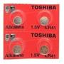 Pilhas Lr41 G3 392 Relógio  Toshiba Durável 2uni Original