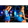 Vestido Cruz Azul Justo Curto Marca Lipsy Girls Lipsoul Original