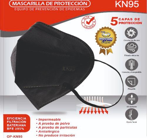 Mascarilla Kn95 Color Negro Importadas (caja X 10 Und)