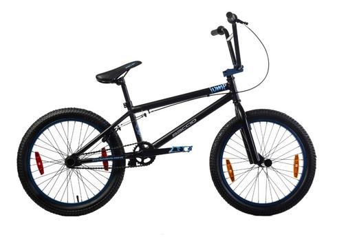 Bicicletas Bmx Baccio Jump 20 Negro Mate/celeste - Fama