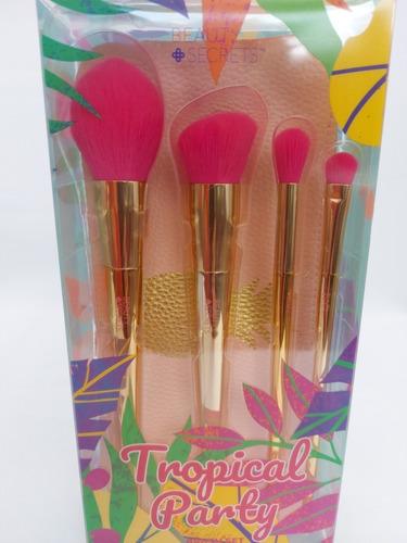 Brochas Beauty Secrets Tropical Party Brush Set Oferta Origi