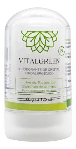Vital Green Desodorante Cristal Alumbre 60gr (paquete 1 Und)